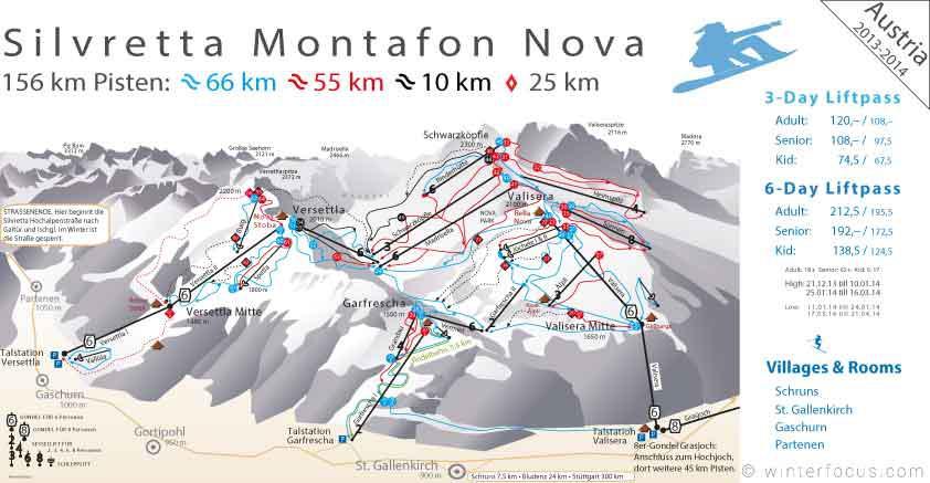 Panorama Karte Silvretta Montafon Nova