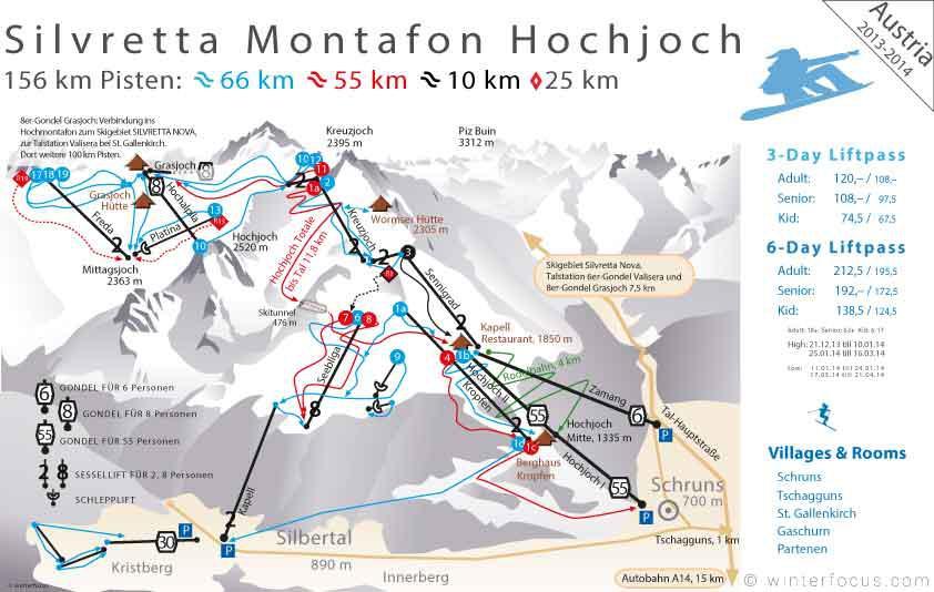 Panorama Karte Silvretta Montafon Hochjoch